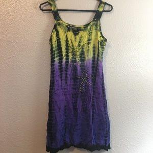 Raya Sun tie dyed beaded dress